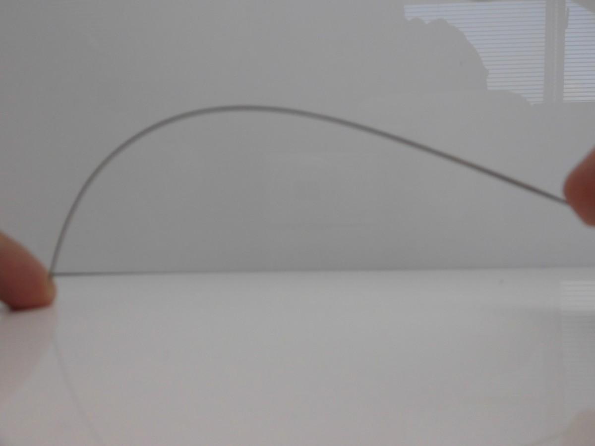 綺麗な曲線を描き、ブランクへの負担を減らします。