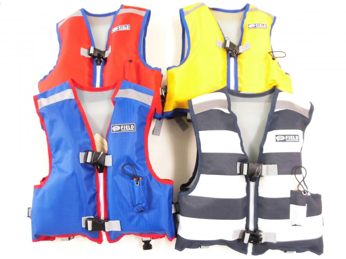 お子様の安全を守るジュニア専用設計のライフジャケットです。釣り場で映える鮮やかなカラーを取り揃えました。