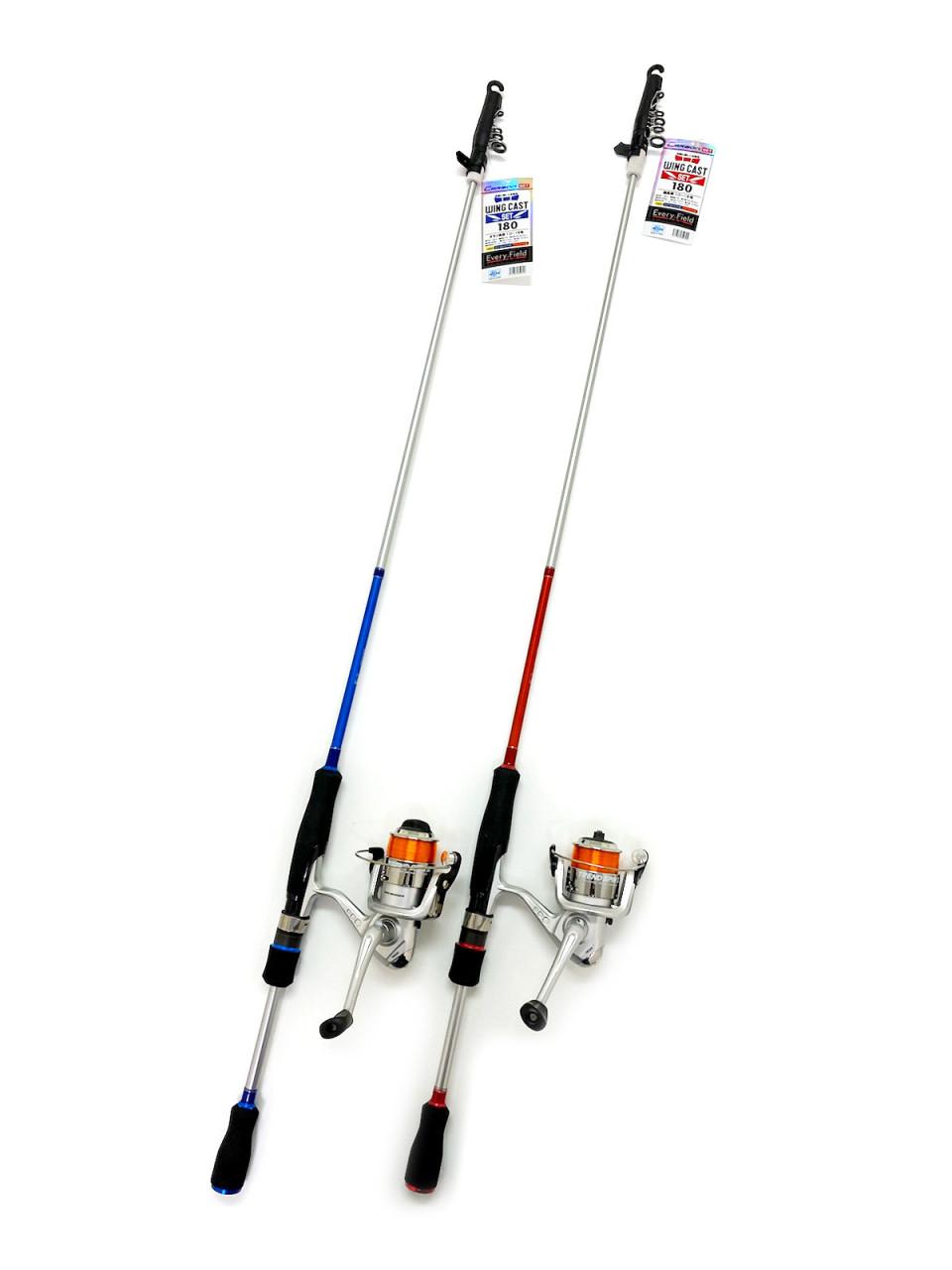 堤防でのちょい投げ釣り・サビキ釣りからルアー釣りまで幅広い釣種で活躍する便利なセット。竿のグリップ部分にはセパレートグリップを採用することにより投げやすさを追求。またルアーフィッシング用の竿のように外見にもこだわったアイテムです。