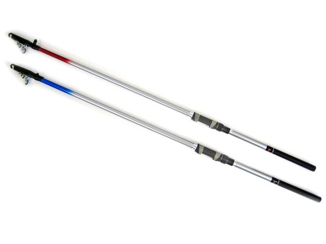 それぞれのターゲットに合わせた調子設計の海上釣堀専用竿シリーズ!!レッドスターはアジ・サバ・マダイなどに対応する柔らかめの調子設計。ブルースターは大物青物にも対応する硬めの調子設計となっております。トップガイドにはFUJI工業性SICトップガイドを採用で糸のすべりが良く、品質にもこだわっております。竿の穂先は白色でアタリが分かりやすく釣果アップにつながります。