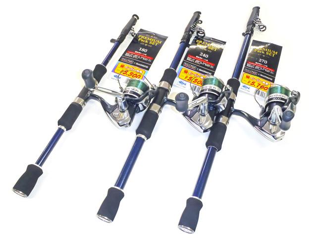 カーボン素材を使用した軽量で張りのある仕舞寸法がコンパクトな竿とシマノ エアノス2000をセットしたワンランク上の使用感のコンパクトセットになっています。堤防からのキス・ハゼ釣りからボート釣りまで幅広い釣りに対応します。