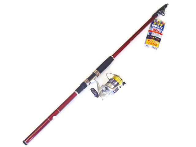 海上釣堀での基本仕様の竿・リールのセット。竿にはカーボン素材採用で軽量、感度が抜群です。また穂先は白色のため視認性が良いことから、魚のアタリが取りやすくなっております。仕舞寸も短く持ち運びに便利!!